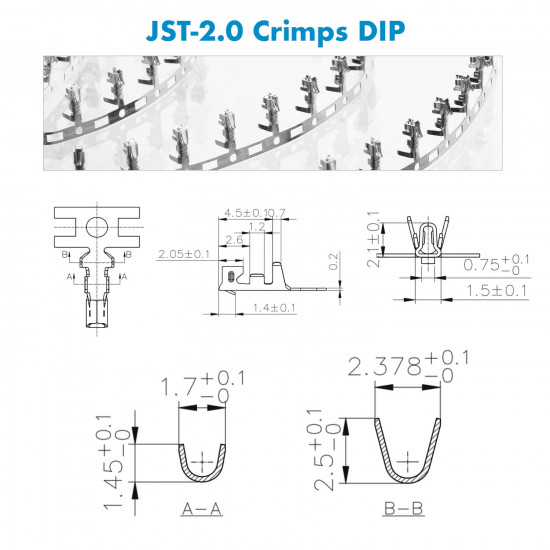 JST PH - 8 / 9 / 10 Pin Connector Kit