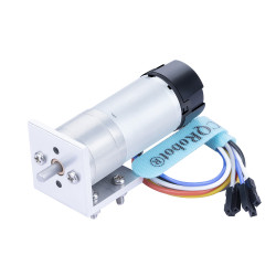 Ocean: 103.07:1 HP Metal DC Geared-Down Motor 25Dx62.5L mm 6W/6V with 48 CPR Encoder and Fix Bracket.