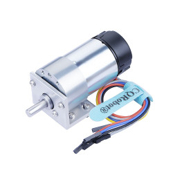 Ocean: 30:1 Metal DC Geared-Down Motor 37Dx65L mm 24V, with 64 CPR Encoder and Mounting Bracket.