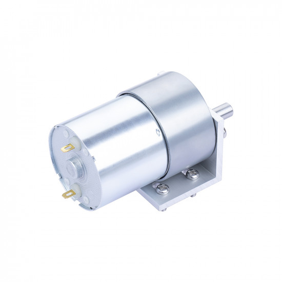 306:1 Metal DC Geared-Down Motor 37Dx49.8L mm 24V, with Mounting Bracket.