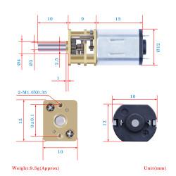 100:1 Micro Metal Gearmotor LP 6V(2PCS)