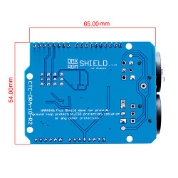 DMX Shield MAX485 Chipset Compatible with Arduino Motherboard (RDM Capable)