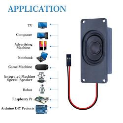 Passive Speaker 4Ω 3W, 2.54mm Dupont Interface.