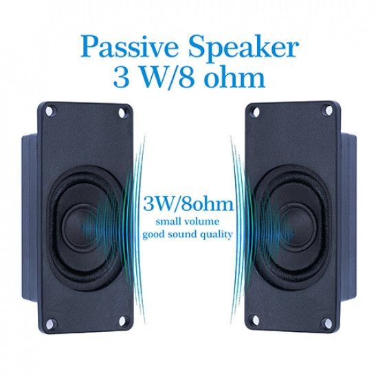 Speaker 3 Watt 8 Ohm for Arduino, JST-PH2.0 Interface.